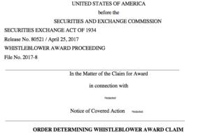 SEC whistleblower award factors