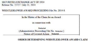 first SEC whistleblower award