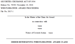 SEC whistleblower award increase