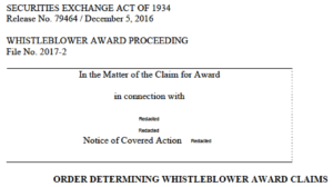 SEC whistleblower award deadline