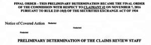 SEC TCR Form