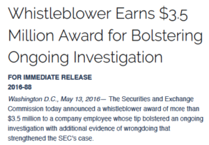 second SEC whistleblower awards