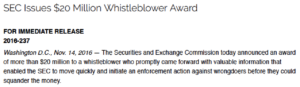 SEC whistleblower award increases