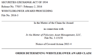 SEC whistleblower tip form