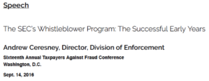 securities and exchange commission whistleblower program