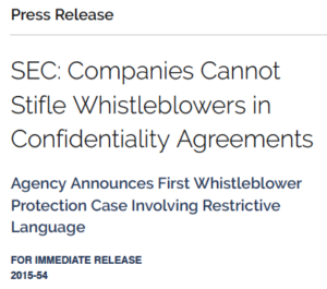 discourage SEC whistleblowers