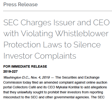 whistleblower protection rule